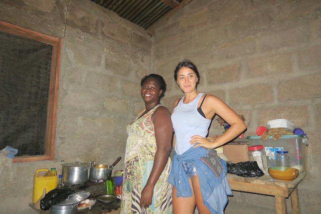 A Girl Backpacking Through Ghana
